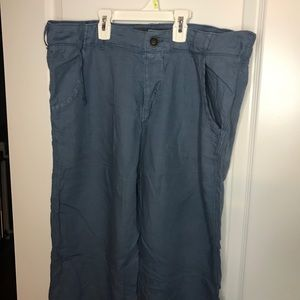 H & M men's logg linen pants with drawstring